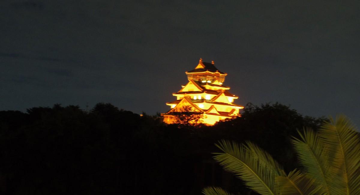 大阪城オレンジライトアップ
