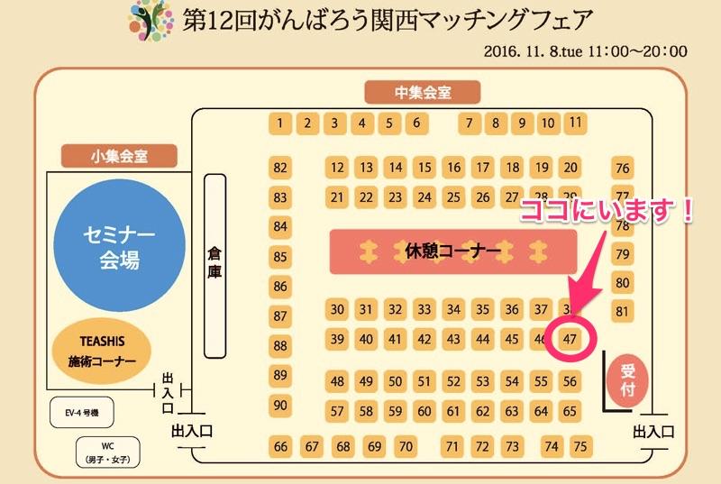 マッチングフェア会場図